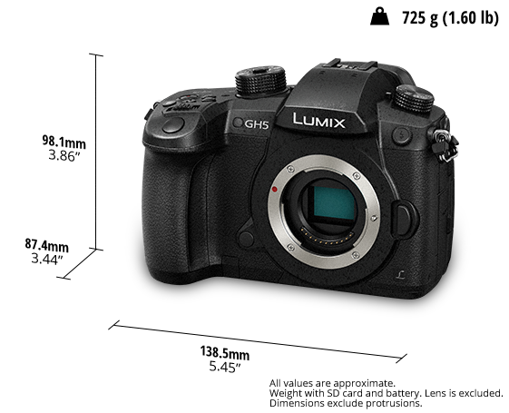 lumix gh5 dimmensions