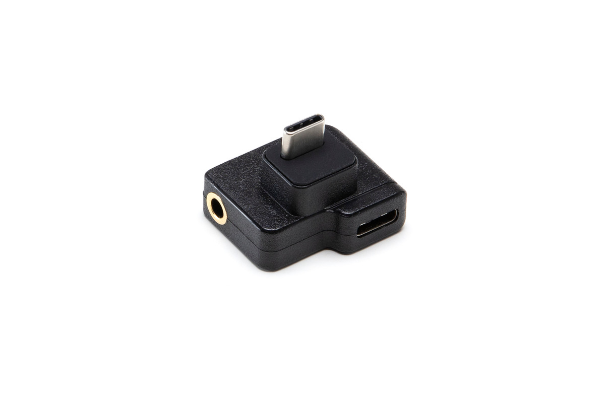 Dual USB-C to 3.5mm Mic Microphone Adapter For DJI OSMO Action Accessories